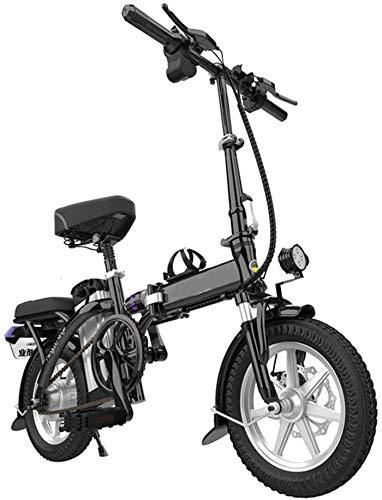 SSeir Bicicleta eléctrica Plegable/E-Bicicleta/Scooter 250W Ebike con Gama de 220 km, Velocidad máxima 20km / h Cordaje de equitación, Peso máximo 120 kg