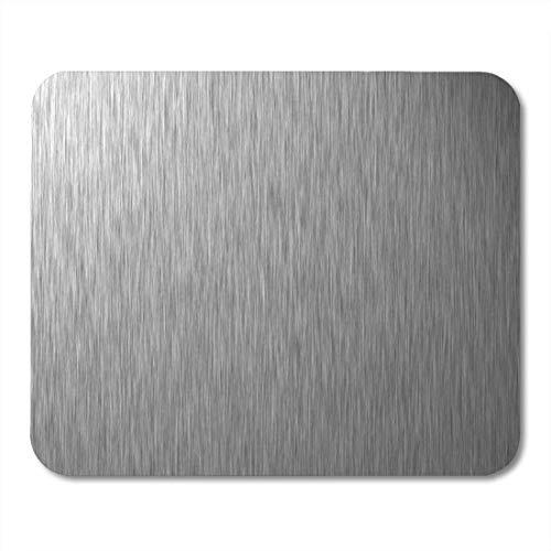 NA Alfombrilla de ratón de Metal Plateado Placa de Acero Inoxidable Alfombrilla...