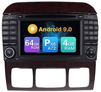 AEBDF Android 9.0 Navegación GPS para Benz S-W220 / S280 / S320 / S350 / S400 / S430 / S500 1998-2005, Coche Estéreo Estéreo Sat Nav Multimedia Player