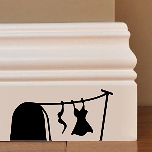 Ladies Wash Day Wall Art Autocollant Decal Mice Home Skirting Board Drôle by Inspired Walls®
