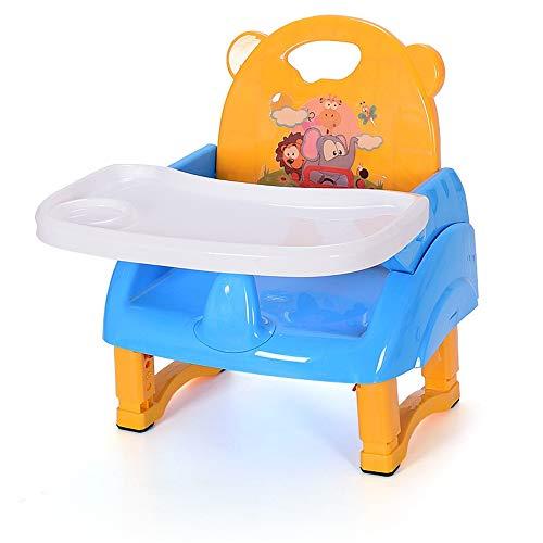 Chaise haute Siège d'appoint for bébé Chaise haute dîner enfant portable Chaise avec plateau Mangeoire Table anti-dérapant confortable et sécuritaire à hauteur réglable Alimentation pliable bébé for b