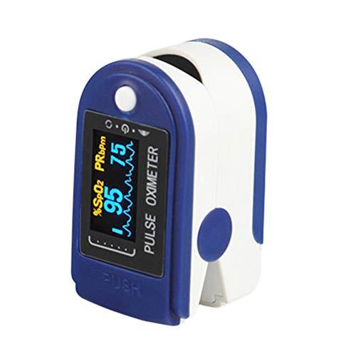 PoeHXtyy Fingerpulsoximeter Fingerspitze Tragbare Blutsauerstoff-Herzfrequenz und SpO2-Monitor für Erwachsene und Kinder, Pulsox, Sauerstoffmessgerät mit Lanyard