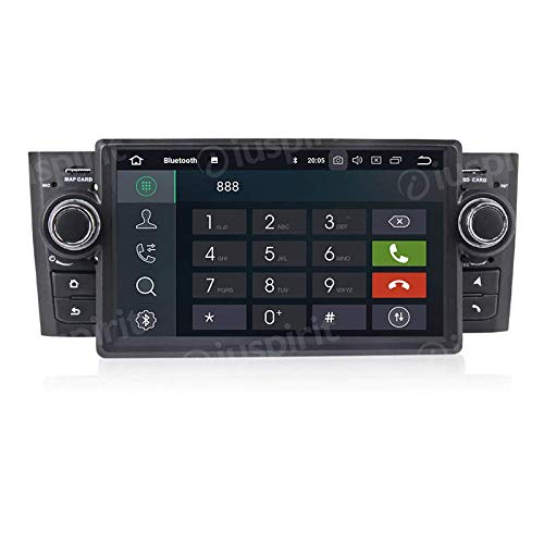 ANDROID 10 GPS USB SD WI-FI Bluetooth MirroLink autoradio navigatore compatibile con Fiat Grande Punto 2006, 2007, 2008, 2009, 2010, 2011