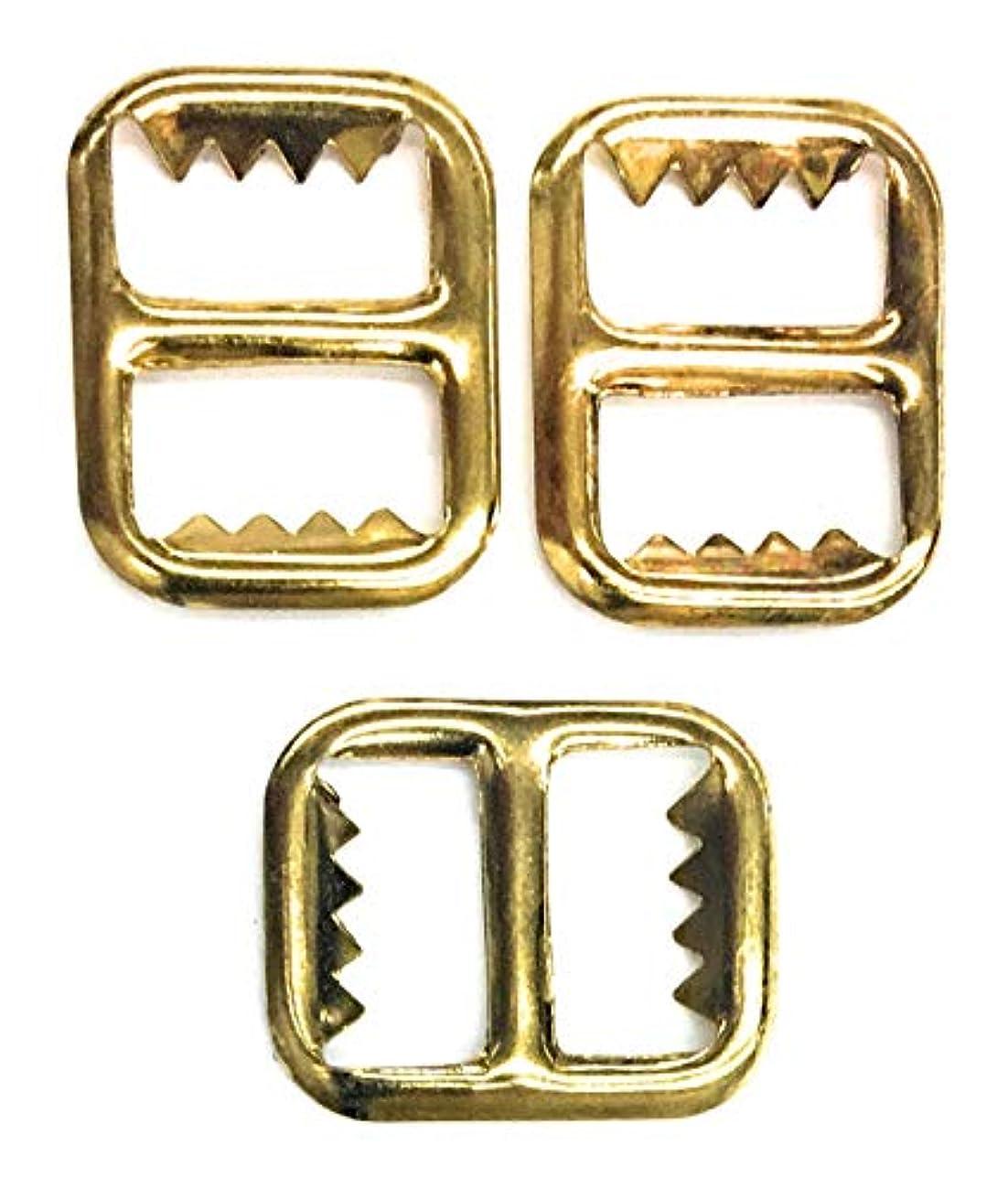 2 Vest Gold Buckle, Slide Fastener, Gold Plating- Gold Vest Buckle 1/2