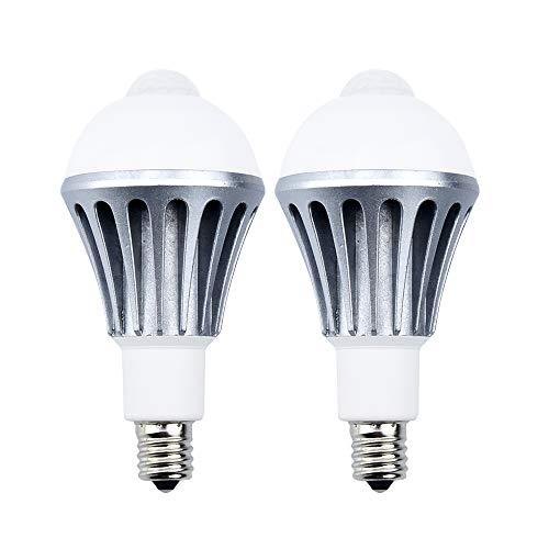 LED電球 人感センサー電球 E17 100W形相当 10W センサーライト 人感センサーライト 広配光タイプ 室内センサーライト 防犯夜灯 自動点灯/消灯 省エネ 長寿命 トイレ/廊下/玄関/脱衣所/階段 昼白色 2個入り
