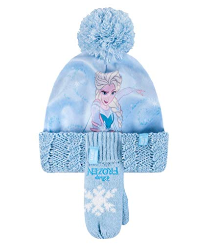 HEAT HOLDERS - Niña Forro Polar Disney Gorro con Pompon y Guantes...