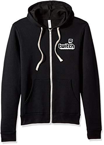 Twitch - Logo Full Zip Hoodie - Männer - Schwarz - L