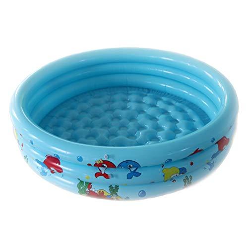 DFSDG Piscina inflable para niños, piscina de agua para bebé, centro de bañera para uso al aire libre, PVC, respetuoso con el medio ambiente, juguetes de verano (color: azul)