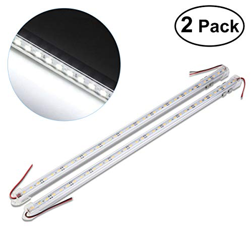 WINOMO 2x36 LED Innenbeleuchtung LED Innenraumbeleuchtung DC 12V 50CM LED Unterbauleuchte LED Leiste für Camping Schrank Küche Lager Keller (Weiß)