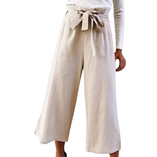 Vectry Moda Salvaje De Mujer Casual Encaje Suelta Sólido Recortado Pantalones Leggings Mujeres Pantalones Pierna Ancha Pantalones Pantalones Vaqueros Mujer