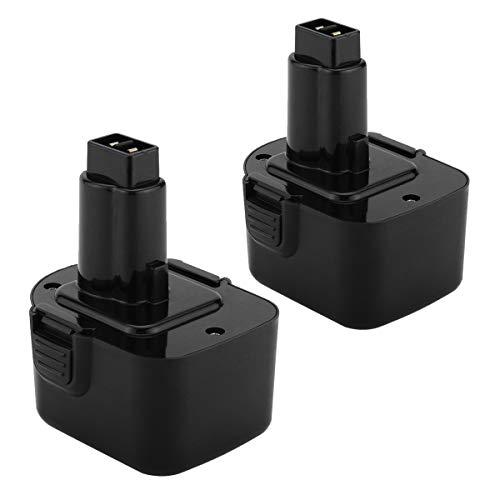 [2 pezzi] Shentec 12V 3.5Ah Ni-MH Batteria per Dewalt DW9071 DE9074 DC9071 DE9071 DW9072 DE9075 DE9501 DE9037 DE9072 152250-27 397745-01
