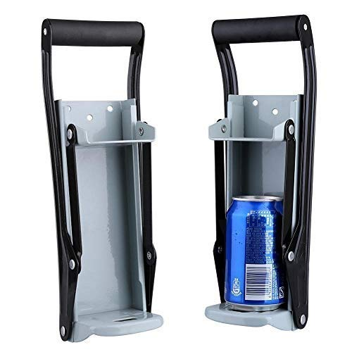16 oz Metal Can Crusher, Wall Mounted Home Metal Can Crusher Power Saving Soda Beer Bottle Crushing Tool for Recycling