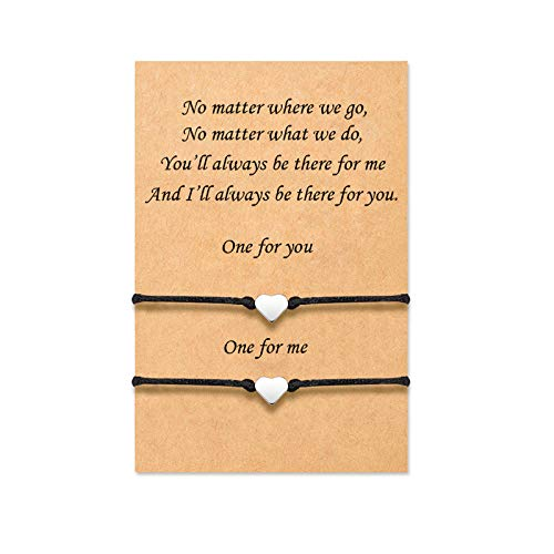 Tarsus Best Friend Matching Relationship Heart Bracelets for Couples Graduation Gifts for Women Teen Girls BFF Bestfriend Friendship
