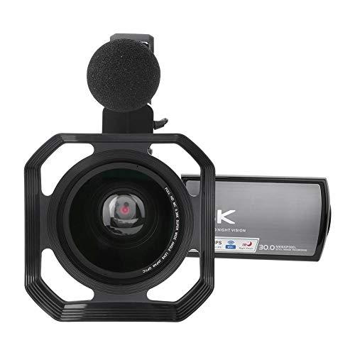 Sxhlseller Videocámara HDR-AE8 HD, 4K Pantalla táctil de 3.0 Pulgadas Cámara de Video Digital WiFi 16X Visión Nocturna para filmación de micropelículas/Turismo al Aire Libre/Bodas(Estándar + batería)