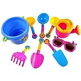 Myriad Choices 9pcs Mini Kunststoff Spaten Schaufel Sandspielzeug Set Für Kinder im Ferien Strand Wasser Spielspaß