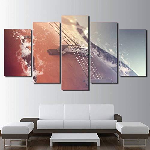 WHFDH canvas schilderij muurkunst wooncultuur Hd afdrukken 5 stuks klassieke viool foto's muziekinstrumenten poster woonkamer 10×15 10×20 10×25cm
