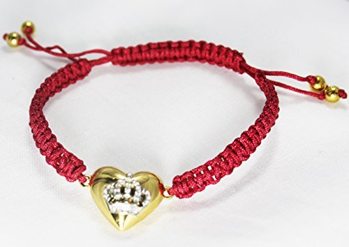 Juicy Couture Friendship String Cord Bracelet (Crown Heart/Red)