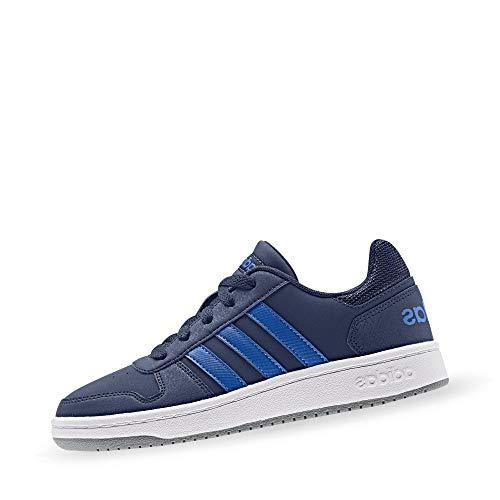 Adidas Hoops 2.0 K, Zapatillas de Baloncesto Unisex Adulto, Multicolor (Azuosc/Azul/Gritre 000), 39 1/3 EU