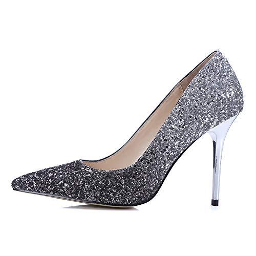 OLKWG Vestido De Noche De Las Mujeres Vestido De Lentejuelas Zapatos Con...