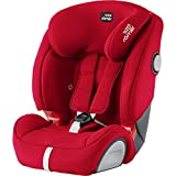 BRITAX RÖMER Silla de coche EVOLVA 1-2-3 SL SICT, con protecciones laterales, niño de 9 a 36 kg (Grupo 1/2/3) de 9 meses a 12 años, Fire Red