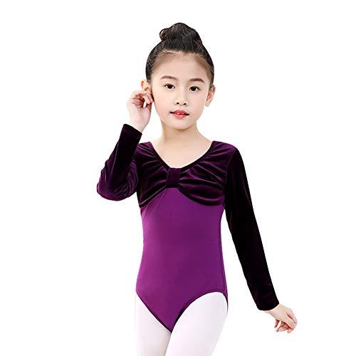 Gyratedream Mädchen Einteilige Ballett Trikots Langarm Patchwork Dancewear Athletic Gymnastics Kostüme Bodysuits