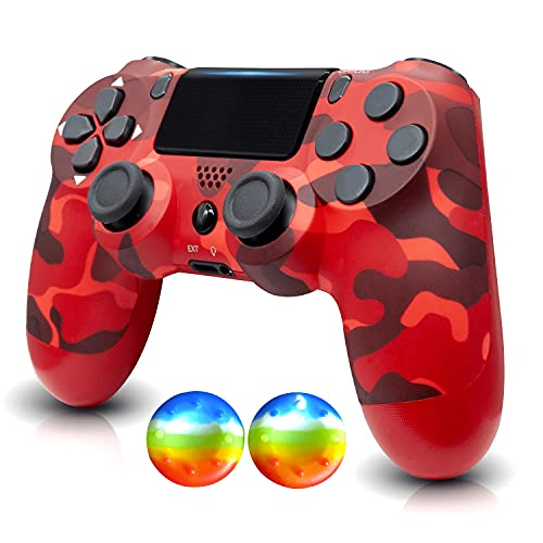 YU33 Wireless Remote Controller Compatible with Playstation 4 System, for PS4 Console with Double Shock and Charging Cable, Great Gamepad Gift for Girls/Kids/Man