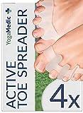 Separador Dedos Pie [4x] para todos los pies, 2 pares diferentes, silicona mejorada, 0% BPA, un tamaño para todos - silicona gel