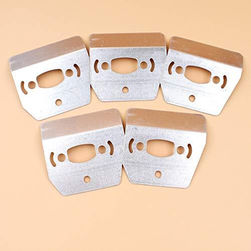 5 unids/lote silenciador placa de refrigeración escudo térmico para HUSQVARNA 36 41137142 E 136141 LE 530069415 repuestos de motosierra
