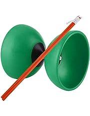 Cuque Diabolo Triple Bearing, ABS Triple Bearing Diabolo Set 4 Colores 5.71 * 4.72 * 4.72 Diabolo Bearing, para Principiantes, Interior y Exterior, Jugadores intermedios