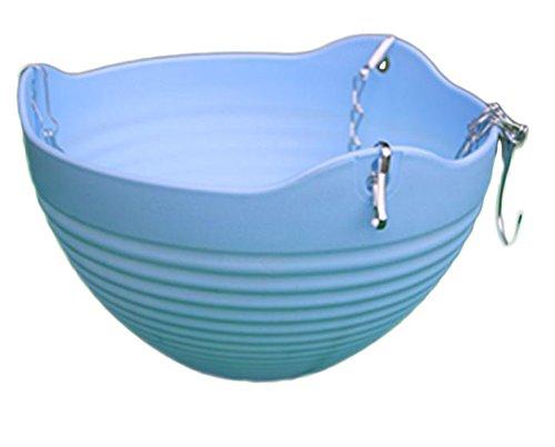 WeiMay Pot de fleurs suspendu pour balcon, plastique, avec chaîne pour le suspendre - décoration de balcon / jardin bleu