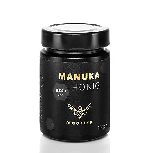 maorika - Manuka Honig 550 MGO + 250g im Glas (lichtundurchlässig, kein Plastik) - laborgeprüft