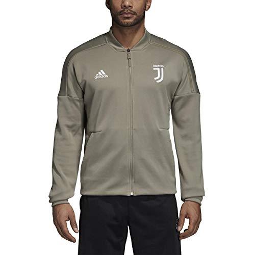 adidas Chaqueta para hombre Juventus Turin Z.N.E. Anthem, color gris, talla XL-56/58
