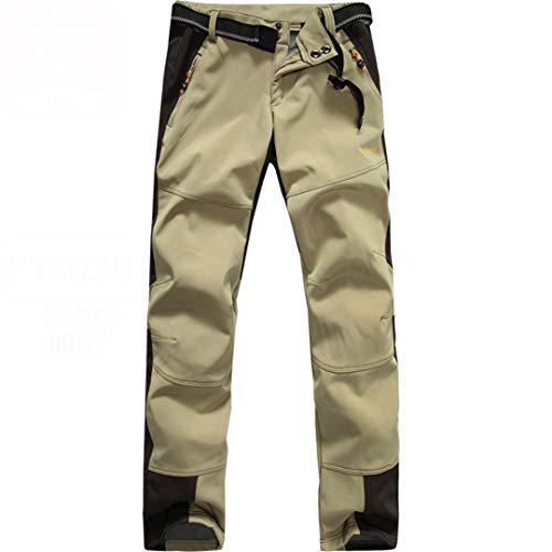 Drying Den Pantalons de randonnée pour Hommes en Plein air Pantalons de randonnée imperméables d'hiver Pantalons de randonnée pour Femmes Women Khaki M