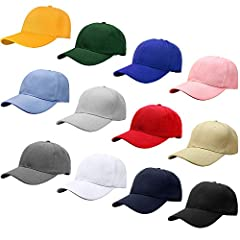 Bulk Sale, 12 Caps Per Pack Unisex Baseball Cap 80% Acrylic, 20% Wool. Suitable for Custom Embroidery and Printing. Adjustable Velcro Strap Closure, One Size fits Most Head Sizes, 6 Panels See images for more details. Or you can visit our amazon stor...