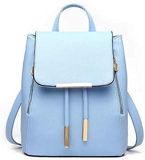 TCSLBP School Backpack for Women PU Leather Shoulder Bag Female Student Book Bag Casual Travel Knapsack girls rucksack