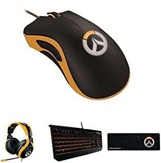 Razer Overwatch Suite - Blackwidow Chroma Mechanical Keyboard + ManO'War Headset + Deathadder Chroma Mouse + Mouse Mat