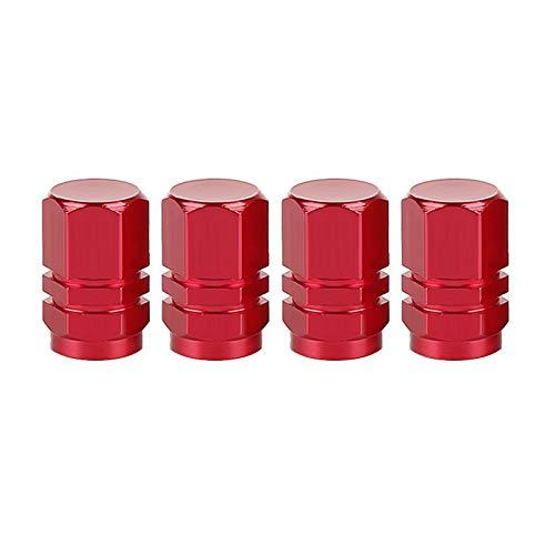 Tapas de Válvulas de Neumático de Coche Válvula de neumático automático Tapas de vástago de aluminio llantas llantas Tallo Válvula de aire Tapa de neumático para camión de automóvil Tornillo de neumát
