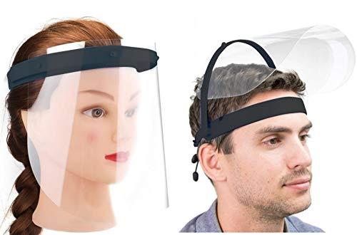 Gesicht Schutzvisier Klappbar Augenschutz austauschbares Klappvisier Schutzschild Schutzbrille Gesichtschutz + 2X zusätzliche PVC Schutzscheiben