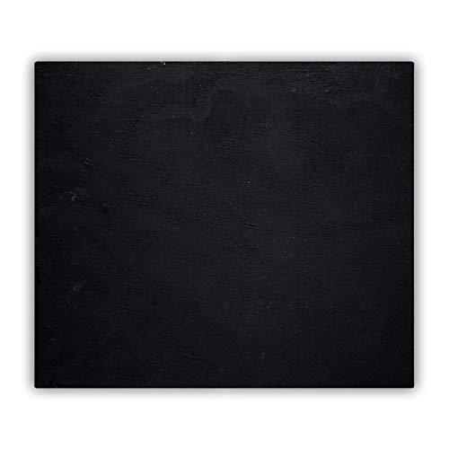 Tulup Planche À Découper - 60x52cm - Protection Plaque Induction Cuisson Tapis de Découpe Verre Trempé - Tableau Noir