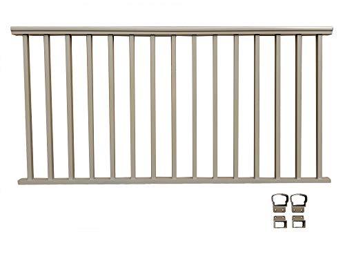 Contractor Deck Railing 8ft x 36in Aluminum Residential Railing - Desert Tan/Clay