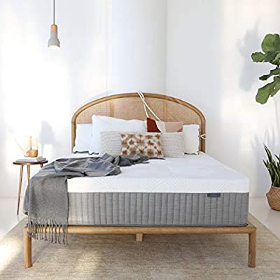 Brentwood Home Cypress Luxe Cooling Charcoal Infused Hybrid Mattress, Non-Toxic, Made in California, 13-Inch, Twin XL Size