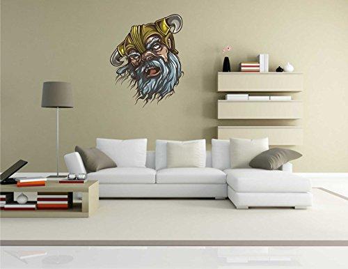 INDIGOS Kar de Wall de pared misc2vikings1-70misc2de vikings1-gruselige Vikingo--Vinilos 70x 89cm