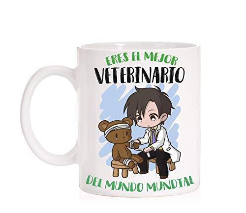 FUNNY CUP Taza Eres el Mejor Veterinario del Mundo Mundial. Taza Divertida de Regalo (Veterinario)