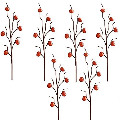 ZYLLZY 6 piezas de flores ramas de plantas artificiales para el hogar, decoración de jardín, oficina, boda, calabaza, girasol, guirnalda, 65 cm
