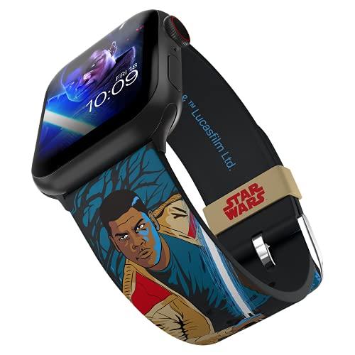 MobyFox Correa de reloj inteligente Finn Edición - Con licencia oficial, compatible con Apple Ver (no incluido) - Se adapta a 38 mm, 40 mm, 42 mm y 44 mm