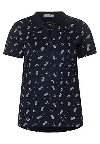 CECIL Damen 313509 T-Shirt per pack Mehrfarbig (deep blue 20128), XX-Large (Herstellergröße:XXL)
