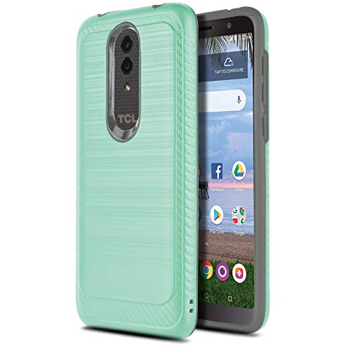 CasemartUSA Phone Case for [Alcatel TCL A1X (A503DL)], [Modern Series][Turquoise] Shockproof Brushed Protective Cover for Alcatel TCL A1X (Tracfone, Simple Mobile, Straight Talk, Total Wireless)