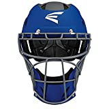 Easton PROWESS Fastpitch Softball Catchers Helmet, Small, Matte Royal/Charcoal, Molded EVA Foam + Impact Absorption + Comfort, Streamlined ABS Shell, Black Matte Steel Cage, NOCSAE