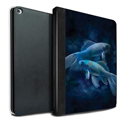 eSwish PU-Leder Hülle/Case/Brieftasche für Apple iPad Pro 12.9 2015/1st Gen Tablet/Fische/Pisces Muster/Tierkreis Star Schild Kollektion