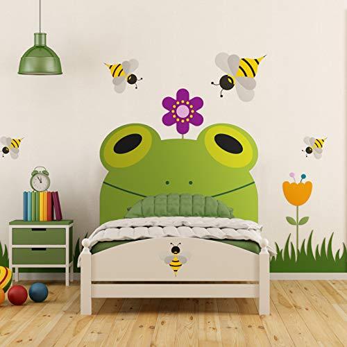 Megadecor Cabecero Cama PVC Decorativo Económico Diseño Infantil Rana 100 x 100 cm.